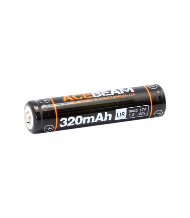 10440 Acebeam Li-Ion pakraunama baterija 320 mAh