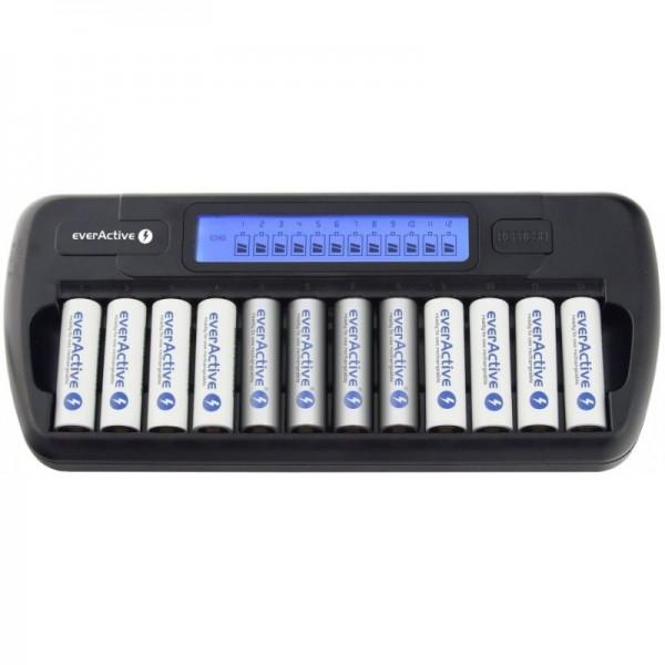 12 vnt baterijų pakrovėjas NC-1200