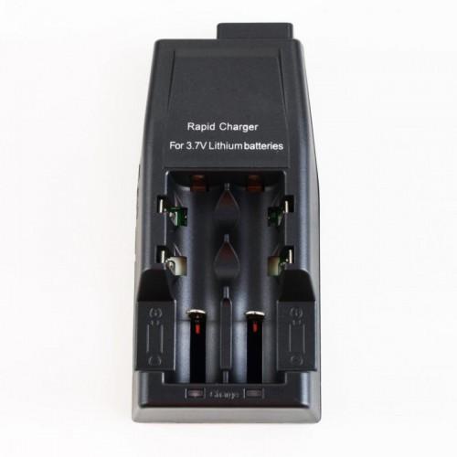 18650 baterijų pakrovėjas 1-2 Li-ion akumuliatorių celėms 3.7V per USB MC2