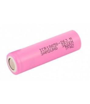 18650 Samsung ICR18650-26JM 2600mAh akumuliatorius