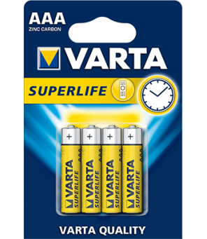 Varta Superlife AAA elementas, 4 vnt.