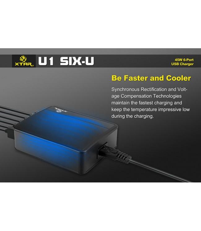 6-ių USB lizdų pakrovėjas XTAR SIX-U
