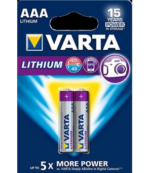 AAA baterija Varta Lithium , 2 vnt.