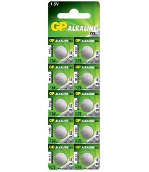 AG13 GP LR44 A76 elementas, 10 vnt.