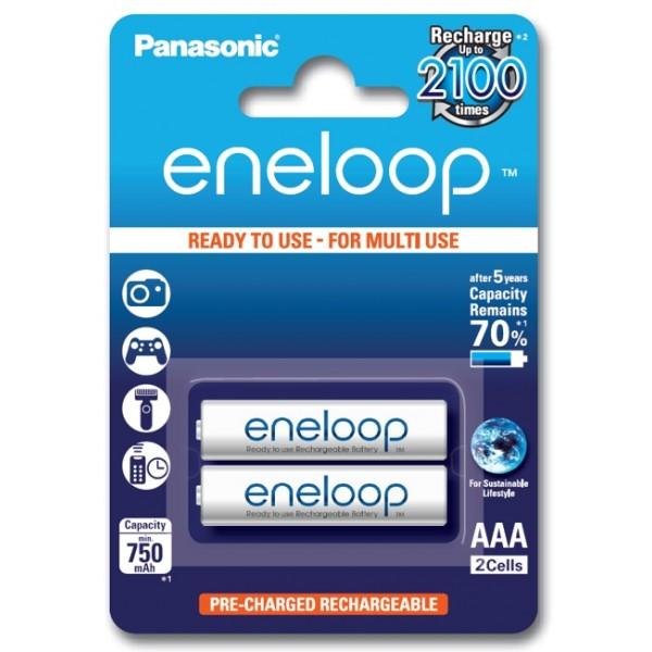 Panasonic Eneloop  750mAh AAA akumuliatorius, 2 vnt.