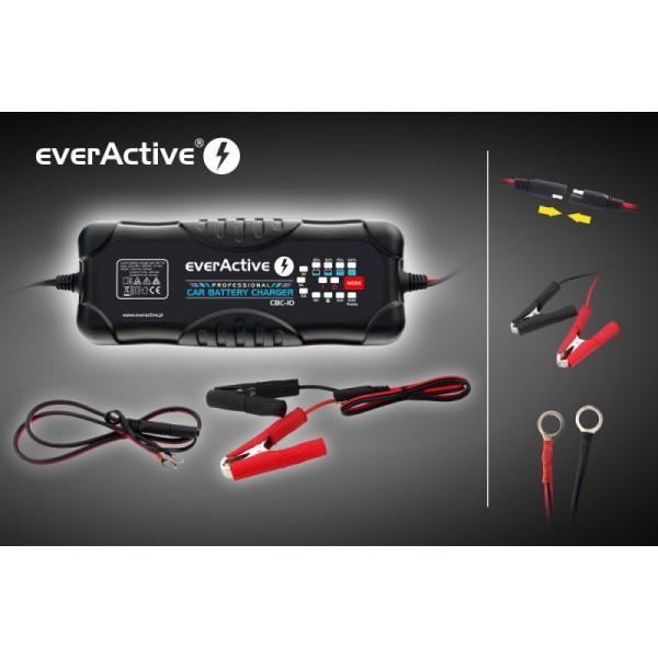 Akumuliatorių kroviklis everActive universalus automatinis 9 etapų 12/24V 10-300Ah