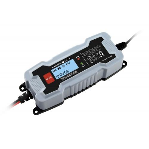 everActive universalus automatinis 7 etapų 6/12V 1,2-120Ah akumuliatorių kroviklis su LCD ekranu