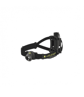Led Lenser NEO10R galvos žibintas (juodas)