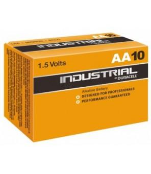 Baterijos Duracell Industrial AA elementas, 10 vnt.