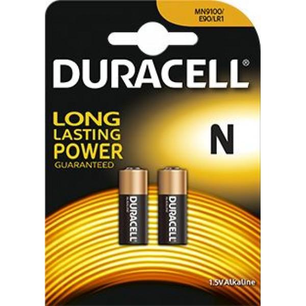 Baterijos Duracell LR1 1,5V elementas, 2 vnt.