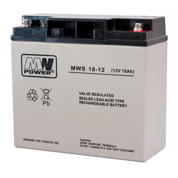 MWpower švino rūgštinis 12V 18Ah M5(T13) AGM akumuliatorius
