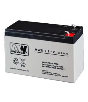 MWpower švino rūgštinis 12V 7.2Ah F1(187) AGM akumuliatorius