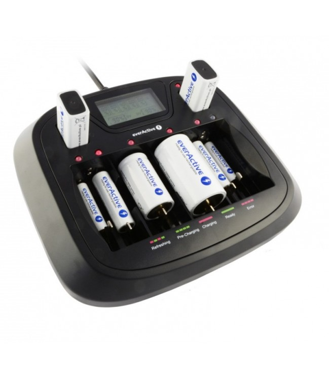 AA AAA C D 9V baterijų įkroviklis NC-900U