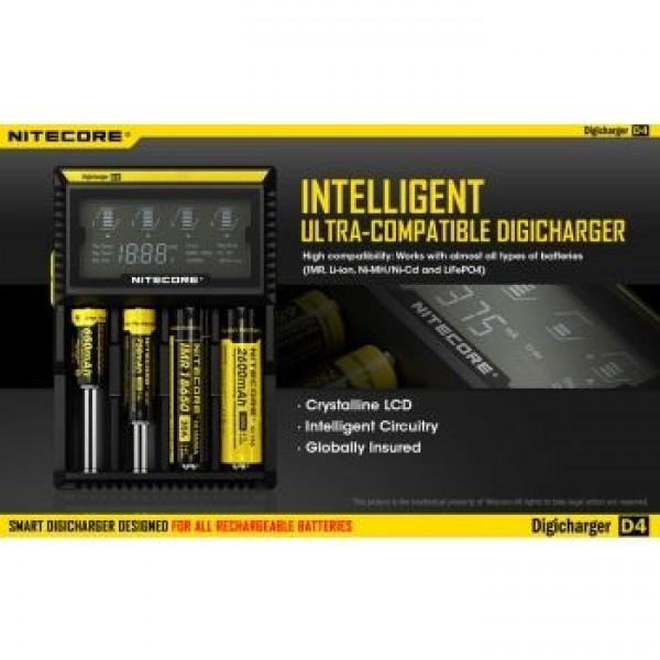 Nitecore Digicharger D4 pakrovėjas