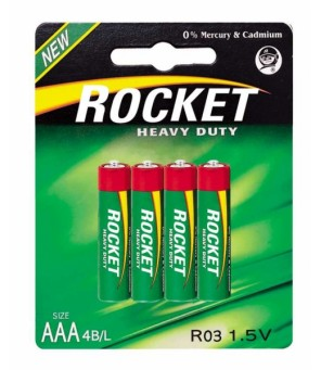 Rocket Heavy Duty AAA elementas, 4 vnt.