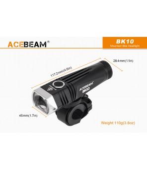 AceBeam BK10 dviračio žibintas USB kraunamas