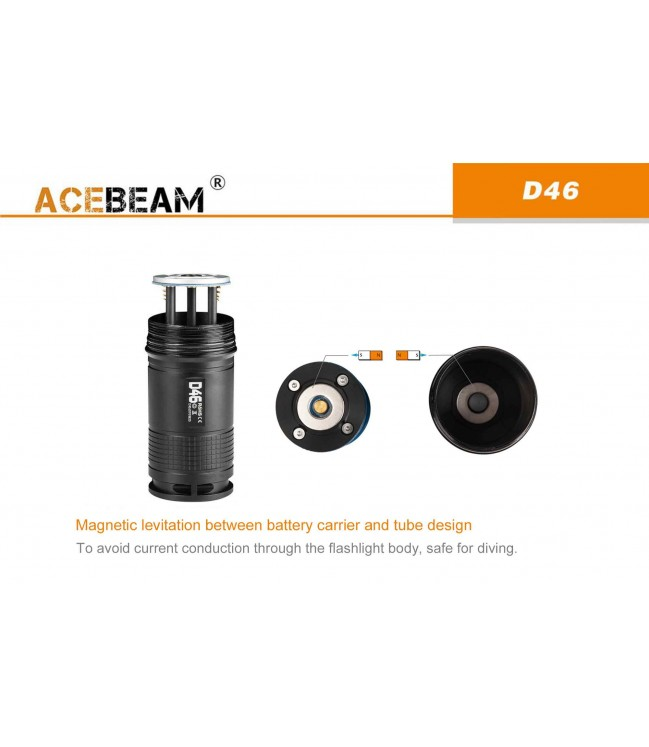 AceBeam D46 žibintuvėlis nardymui