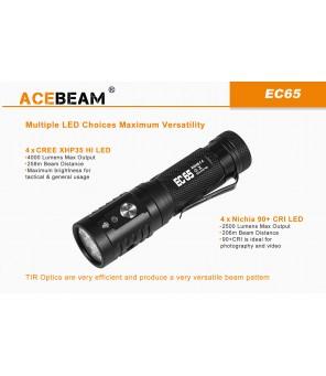 AceBeam EC65 žibintuvėlis, Nichia