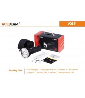 AceBeam K65 6500K šaltai balta žibintuvėlis