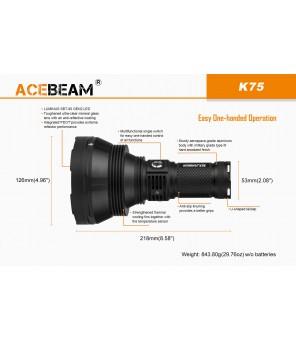 AceBeam K75 žibintuvėlis