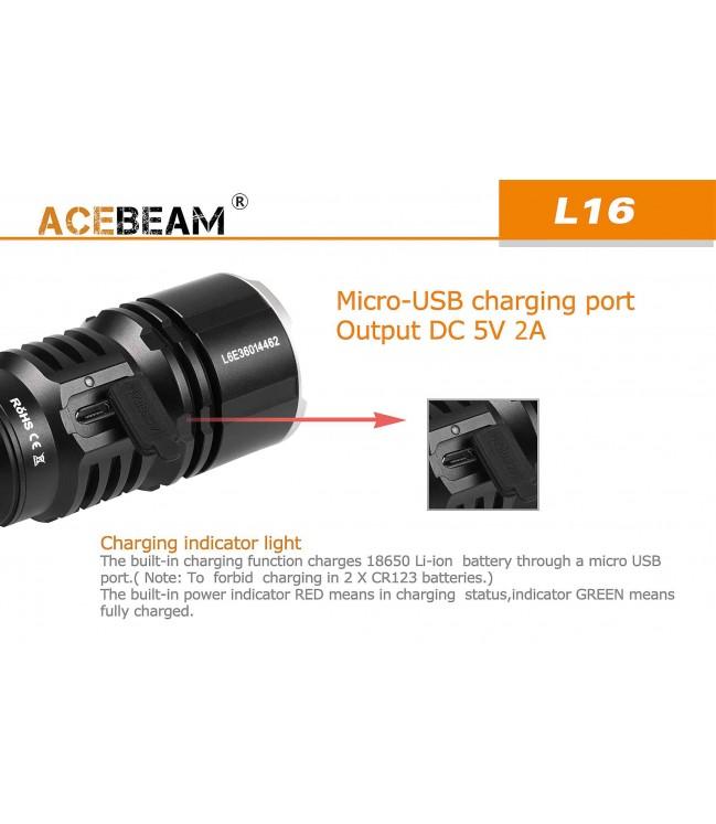 Acebeam L16 žibintuvėlis