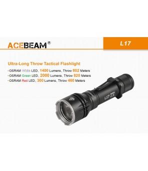 Acebeam L17 žibintuvėlis su baterija