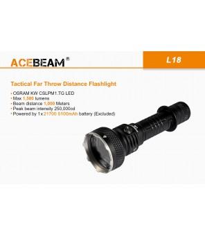 Acebeam L18 žibintuvėlis, 1500lm, 1000 metrų
