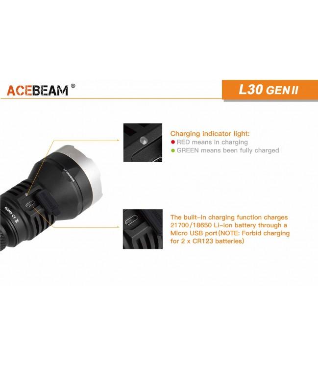 Acebeam L30 Generation II neutraliai balta (5000K) žibintuvėlis