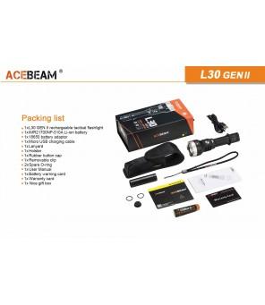 Acebeam L30 Generation II šaltai balta (6000K) žibintuvėlis
