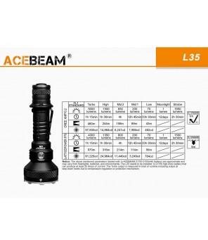 Acebeam L35 5000lm žibintuvėlis