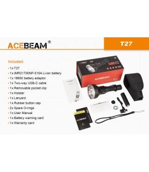 Acebeam T27 neutraliai balta (5000K) žibintuvėlis