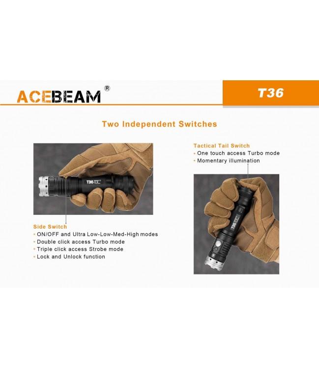 AceBeam T36 žibintuvėlis