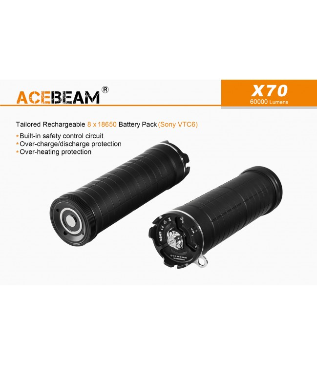 Acebeam X70 galingas prožektorius 60000Lm
