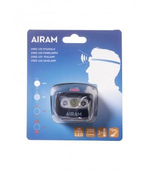 AIRAM 3W 200lm žibintuvėlis ant galvos