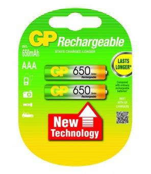 Akumuliatoriai AAA 650mAh GP, 2vnt