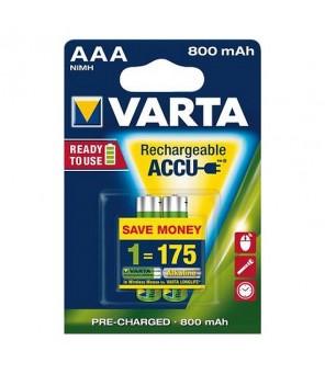 Akumuliatoriai Longlife Accu AAA 800 mAh (2vnt) VARTA 56703