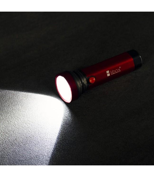 Aliuminis įkraunamas žibintuvėlis COB+LED