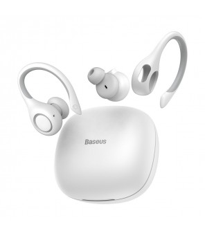 Ausinės sportui Baseus W17 baltos TWS, Bluetooth 5.0