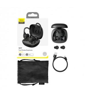 Ausinės sportui Baseus W17 juodos TWS, Bluetooth 5.0