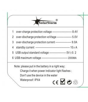Baterijų laikiklis-blokas 7.2V  4x18650