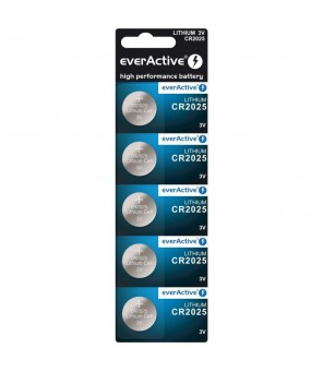CR2025 baterijos everActive , 5vnt