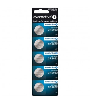 CR2032 baterijos everActive , 5vnt