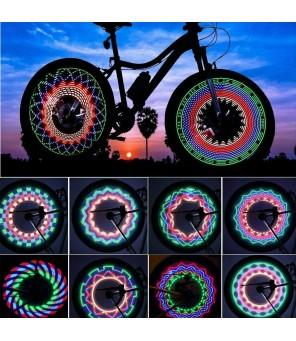 Dviračio stipinų LED apšvietimas RGB