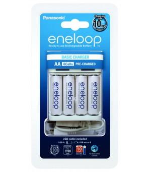Elementų kroviklis Ni-MH Panasonic Eneloop BQ-CC61 + 4vnt R6/AA Eneloop 2000mAh kraunami elementai