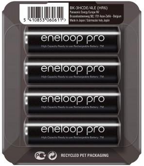 Panasonic Eneloop AA 2550 mAh pakraunamos baterijos , 4vnt.