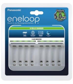 Eneloop BQ-CC63 baterijų įkroviklis 1-8 baterijoms
