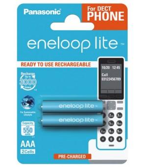 Eneloop Lite R03 AAA 550mAh, 2 vnt įkraunamos baterijos