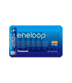 Eneloop R03 AAA 800mAh BK-4MCCE/8LE 8vnt pakraunamos baterijos