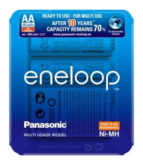 Panasonic Eneloop R6 AA 2000mAh BK-3MCCE pakraunamos baterijos, 4vnt
