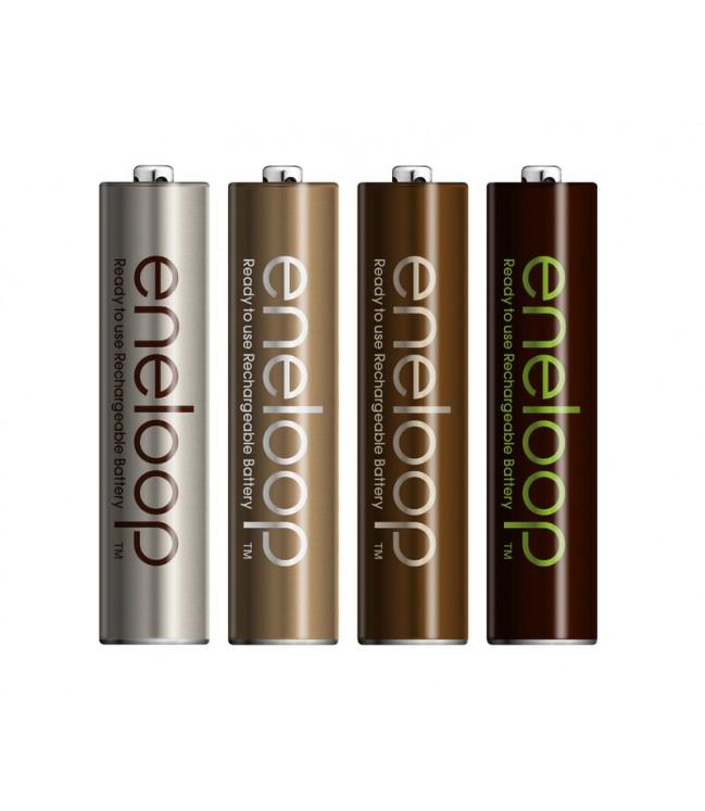 Panasonic Eneloop Tones Earth R03 AAA 800mAh pakraunamos baterijos. 8vnt